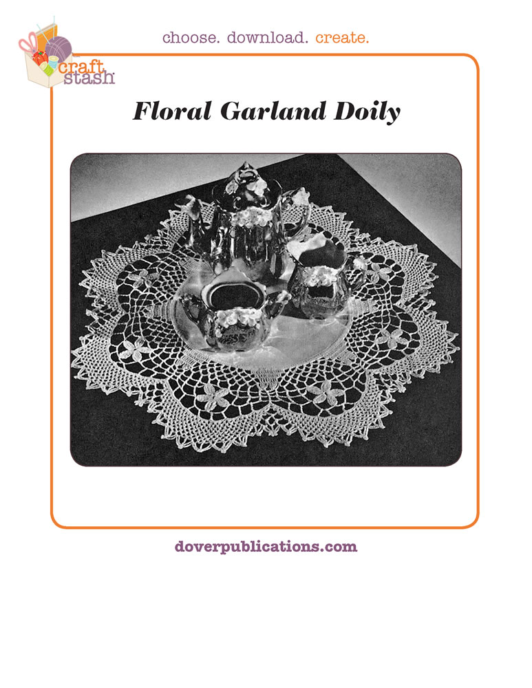 Floral Garland Doily (digital pattern)