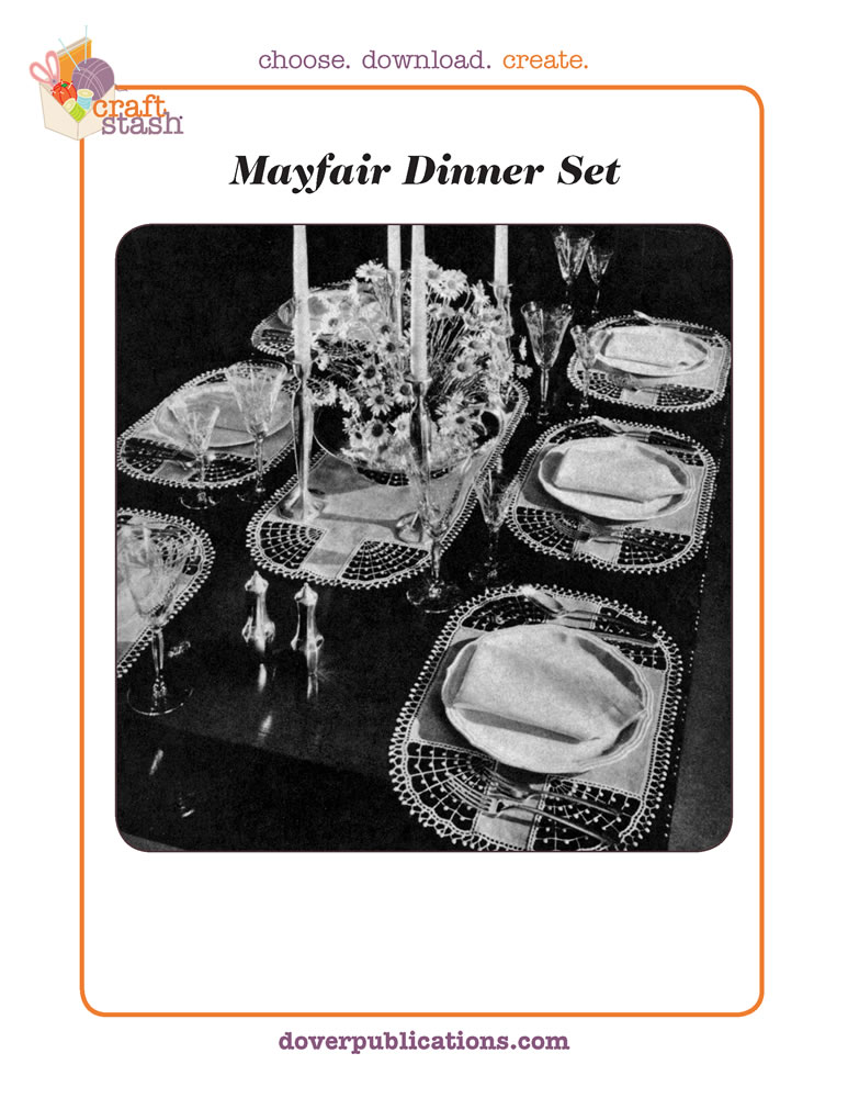 Mayfair Dinner Set (digital pattern)