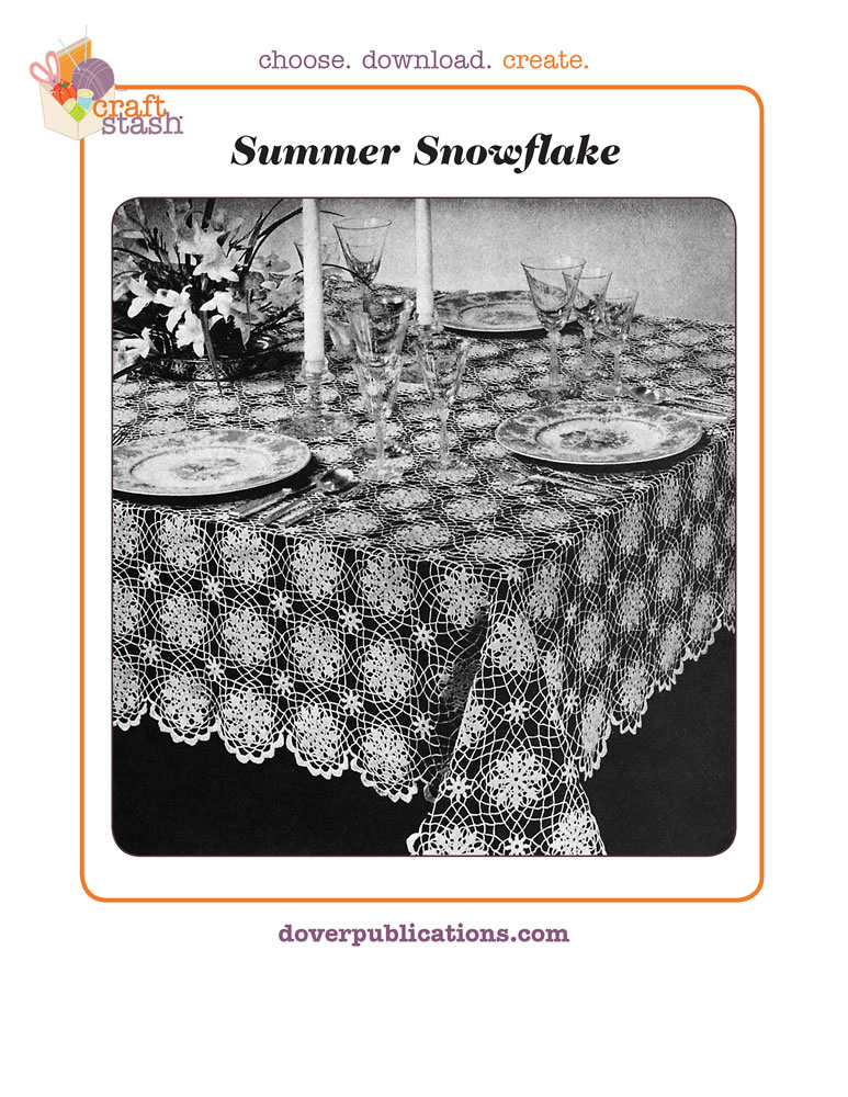 Summer Snowflake Tablecloth (digital pattern)