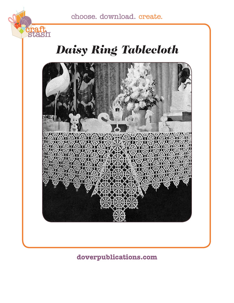 Daisy Ring Tablecloth (digital pattern)