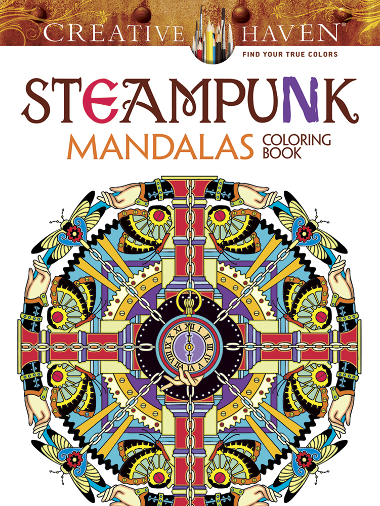 Creative Haven Steampunk Mandalas Coloring Book