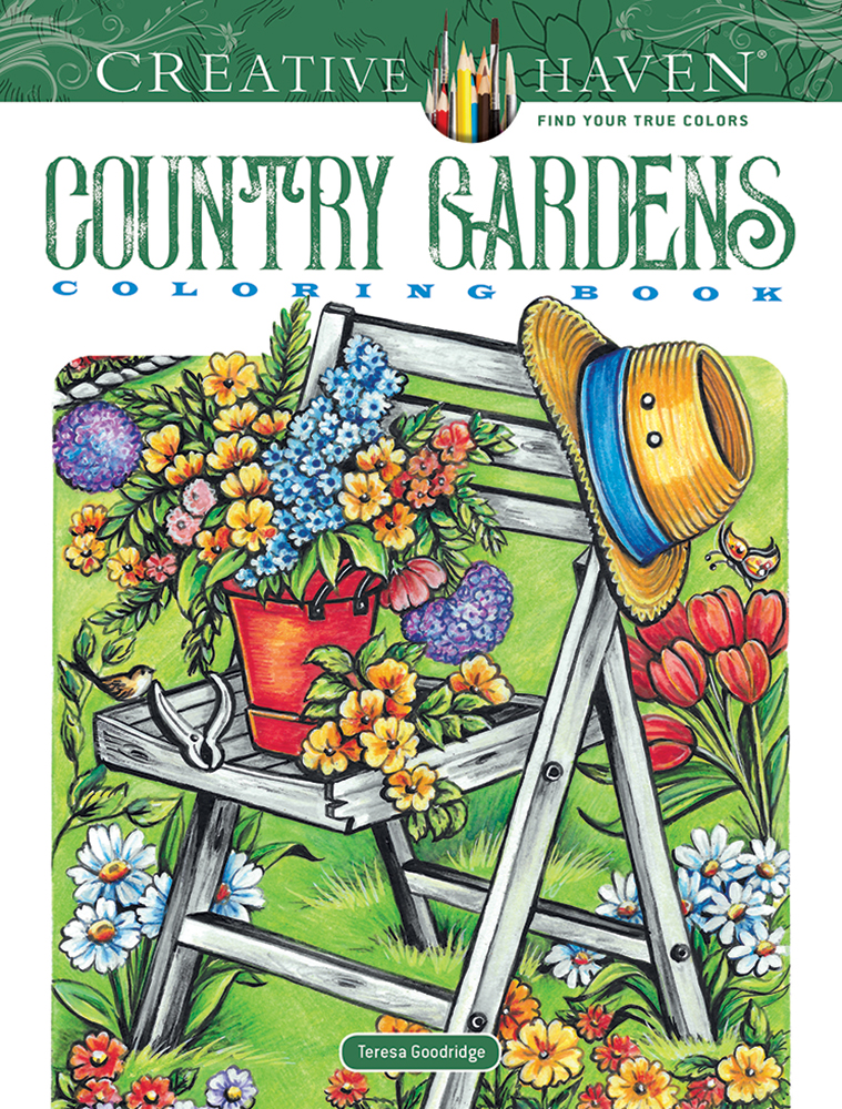 Creative Haven Country Gardens Coloring Book