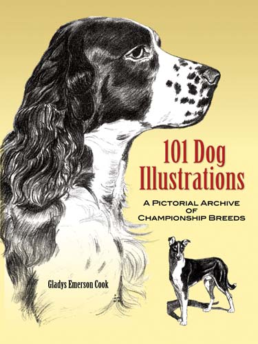 101 Dog Illustrations: A Pictorial Archive of Championship Breeds (eBook)