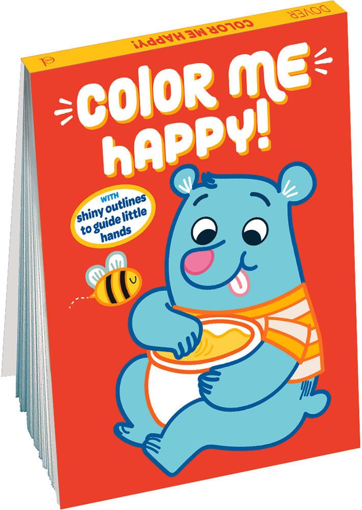 Color Me Happy! (Orange): With Shiny Outlines to Guide Little Hands