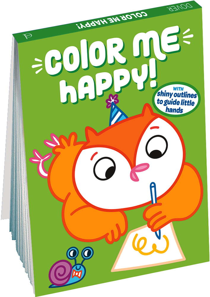 Color Me Happy! (Green): With Shiny Outlines to Guide Little Hands