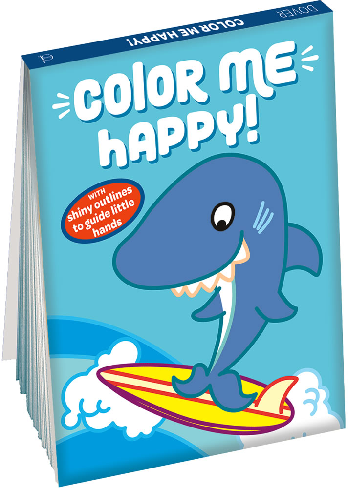 Color Me Happy! (Blue): With Shiny Outlines to Guide Little Hands
