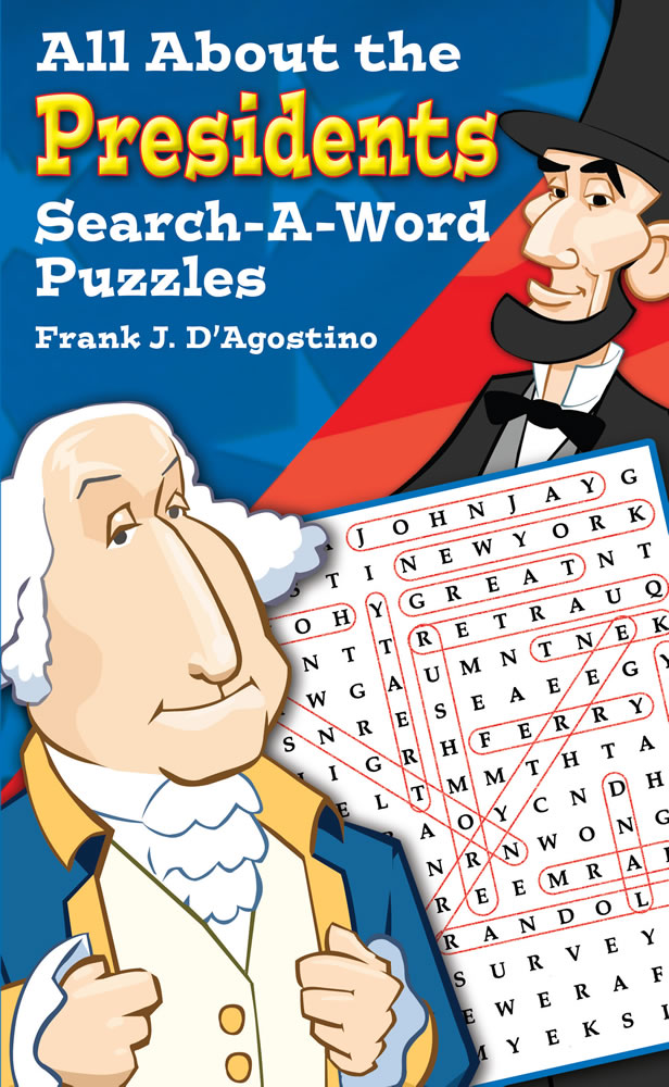 All About the Presidents Search-a-Word Puzzles