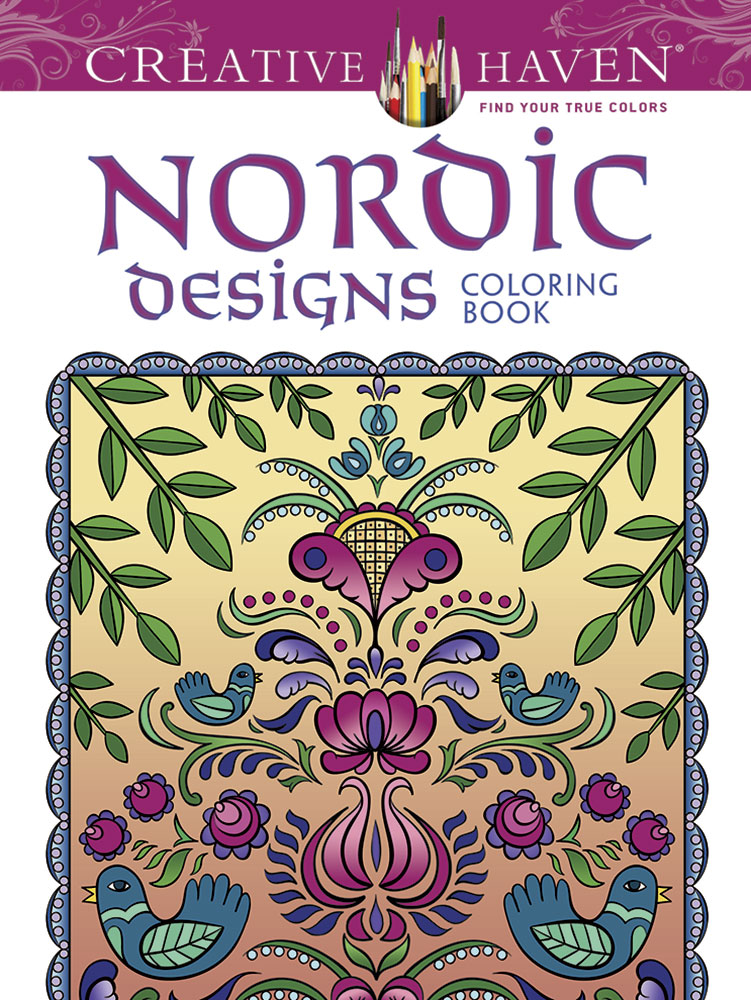 Creative Haven Deluxe Edition Nordic Designs Coloring Book