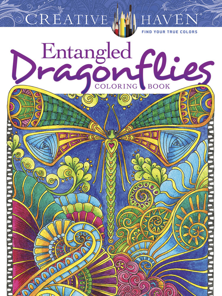 Creative Haven Entangled Dragonflies Coloring Book