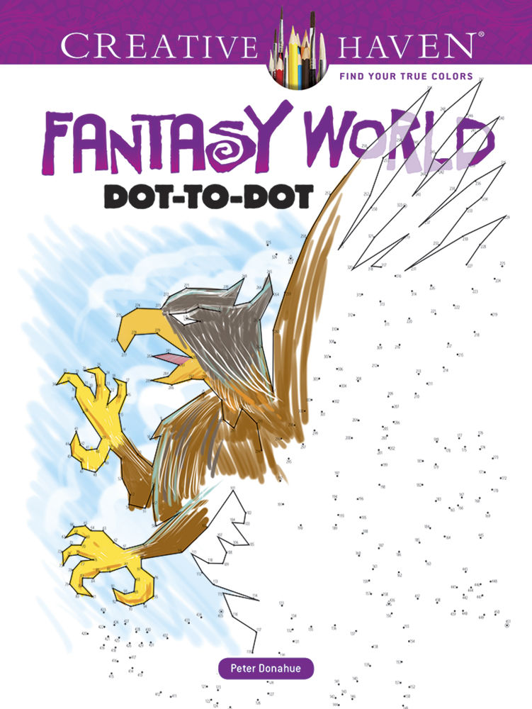 Creative Haven Fantasy World Dot-to-Dot Coloring Book