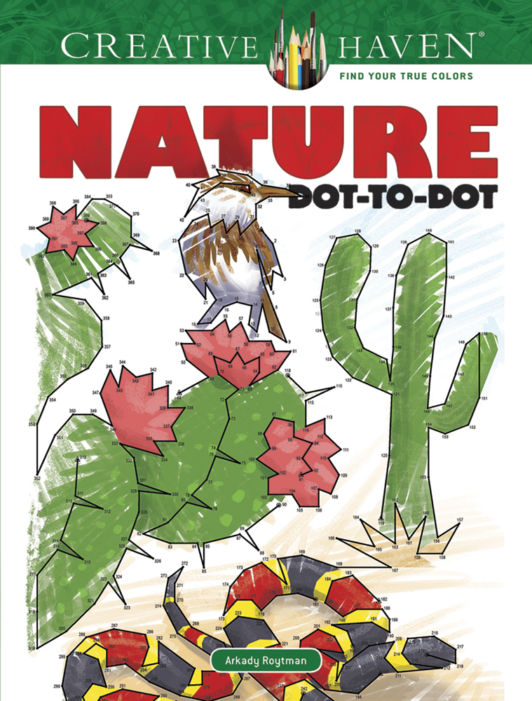 Creative Haven Nature Dot-to-Dot Coloring Book