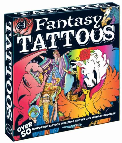 Fantasy Tattoos: Over 50 Temporary Tattoos including Glitter and Glow-in-the-Dark