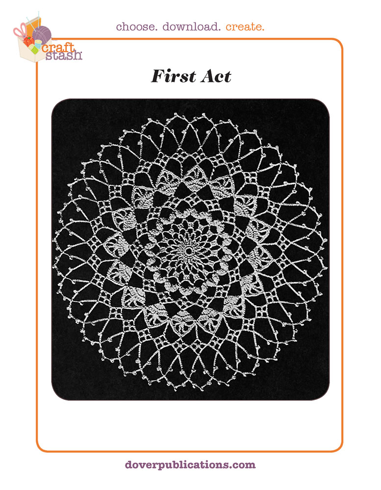 First Act Doily (digital pattern)