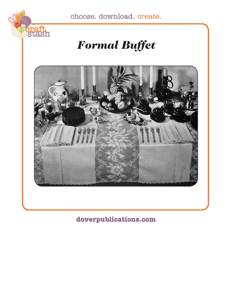 Formal Buffet Tablecloth (digital pattern)