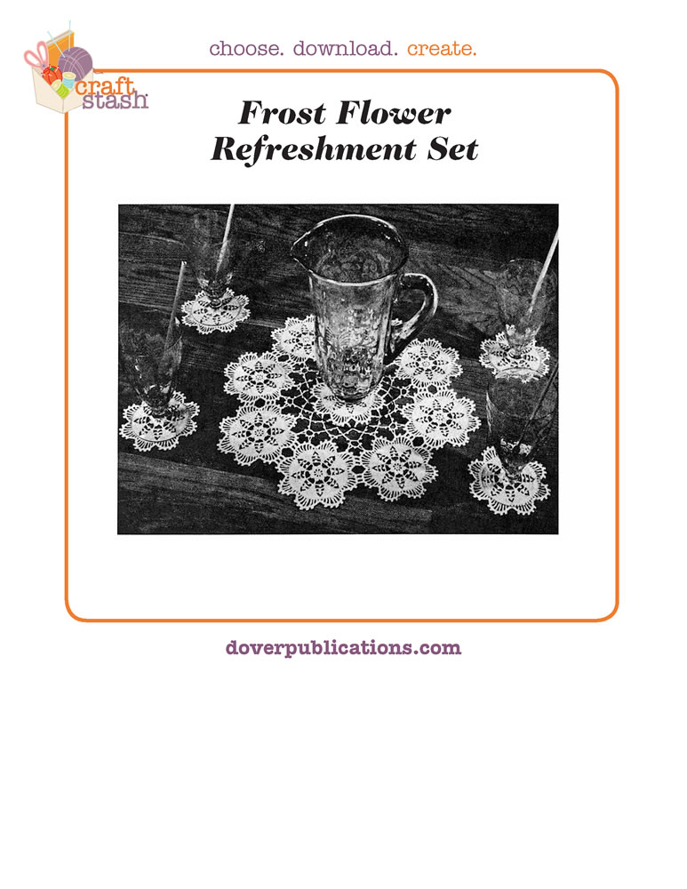 Frost Flower Refreshment Set (digital pattern)