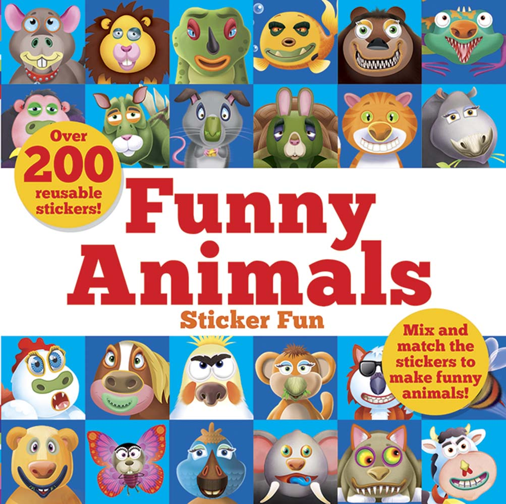 Funny Animals Sticker Fun: Mix and match the stickers to make funny animals