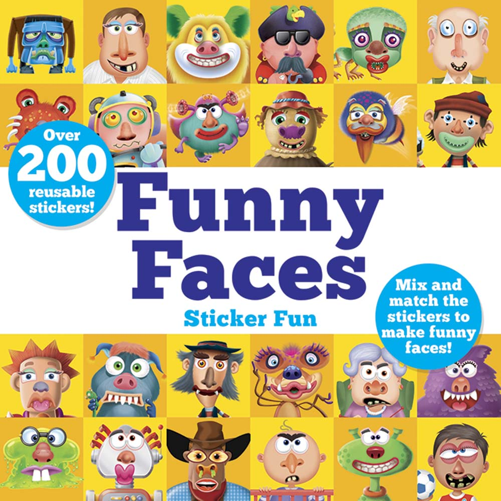 Funny Faces Sticker Fun: Mix and match the stickers to make funny faces
