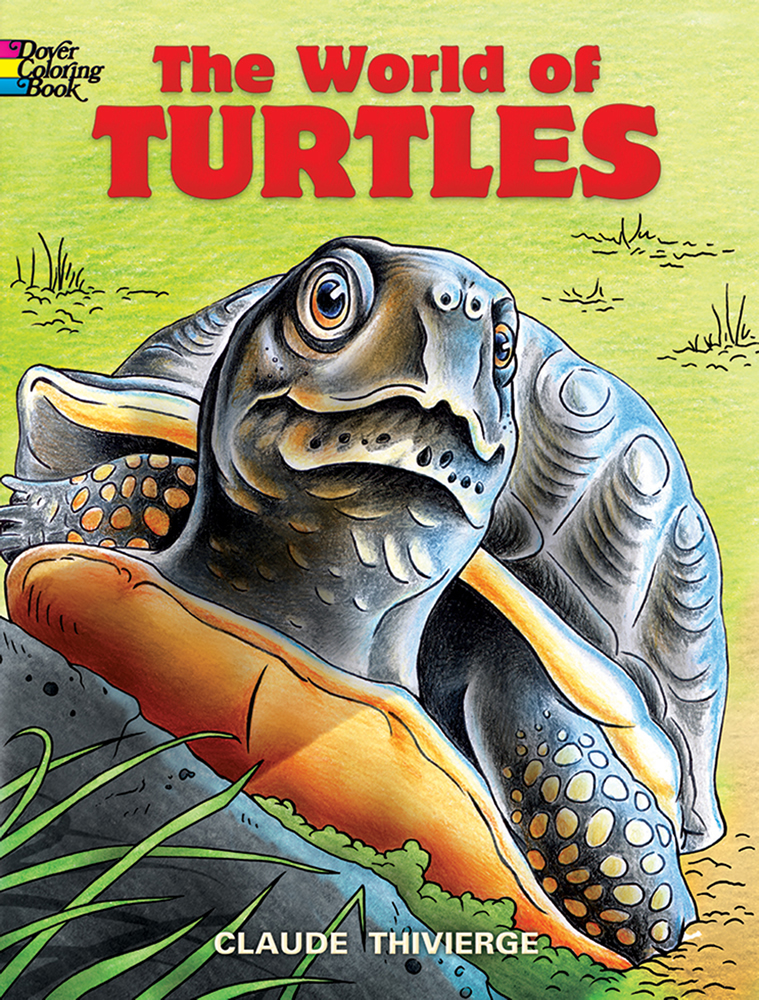The World of Turtles Coloring Book