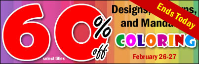 Coloring Flash Sale! Save 60% on Designs, Patterns, and Mandalas