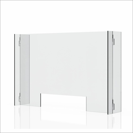 "Clear 1/4"" Plexiglass Protective Sneeze Guard & Shield For Counters - 35.9"" x 23.6"""