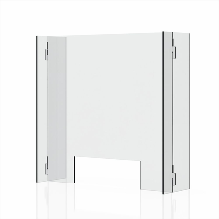 "Clear 1/4"" Plexiglass Protective Sneeze Guard & Shield For Counters - 23.6"" x 23.6"""