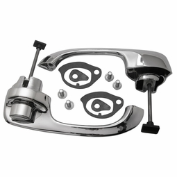 Trim Parts: 2416 / New 1965-1968 Chevy Full Size Rear Outside Door Handle Set