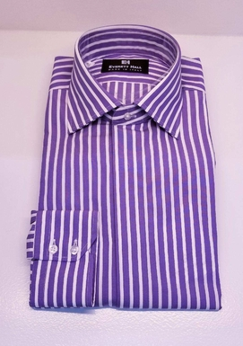 Purple & White Dress Shirt