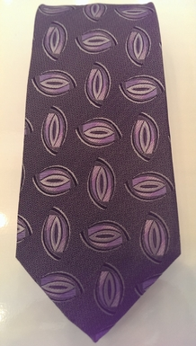Lavender and Gray Silk Tie