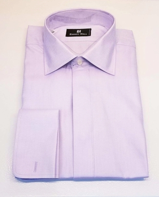 Lavender Herringbone Dress Shirt