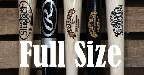 Custom Engraved Full Size Baseball Bats
