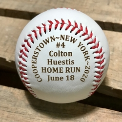 Cooperstown NY Home Run Ball Engraving