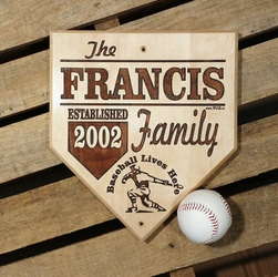 Established Personalized Baseball Plaque