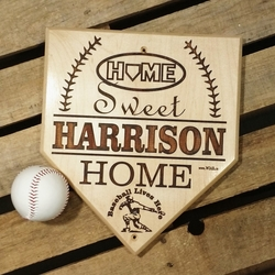 Home Sweet Home Personalized Baseball Plaque