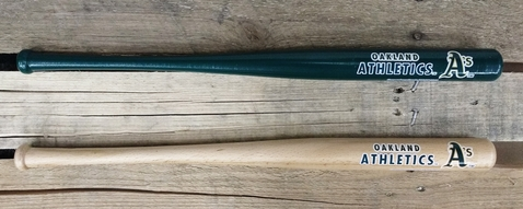 "ATHLETICS 18"" MLB LOGO MINI BAT ~ PERSONALIZE IT"