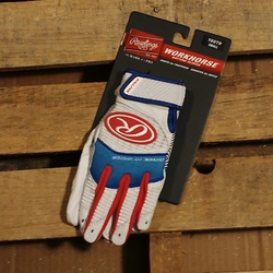Workhorse Youth Batting Gloves Blue/Red