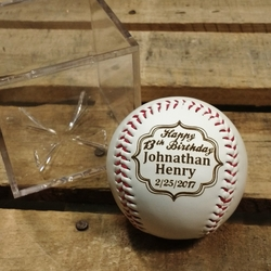 Happy Birthday Personalized Baseball