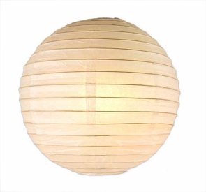 16 Inches Snow White Paper Lanterns