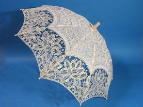 26 Inch Gold Lace Parasol