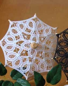 7.75 Inch Decorative Lace Parasols