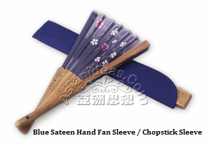 Sateen Hand Fan Sleeves, Chopsticks Sleeve