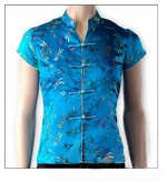 Dragonfly Brocade Short Sleeve Chinese Top