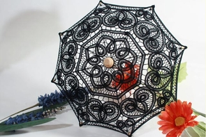 12 Inch Mini Decorative Lace Parasols