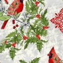 Cardinals Seasons Greetings by Whistler Studios for Windham Fabrics