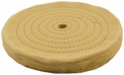 "Enkay 156-H 6 inch Spiral Sewn Buffing Wheel -1/2"" arbor hole, 55 Ply"