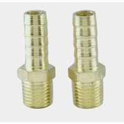 "OEM Tools 25843 1/4"" NPT to 3/8"" Brass Hose End Barb Fittings - 2 pc"