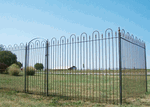 6' Tall Wrought Iron Fencing & Gates