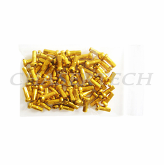 "Bicycle 7075 Alloy Spoke Nipples 2.0mm 14G 1/2"" 100 Pcs Gold"