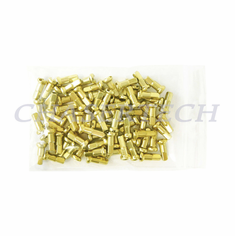 "Bicycle 7075 Alloy Spoke Nipples 2.0mm 14G 1/2"" 100 Pcs Light Gold"