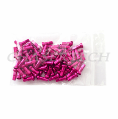 "Bicycle 7075 Alloy Spoke Nipples 2.0mm 14G 1/2"" 100 Pcs Hot Pink"
