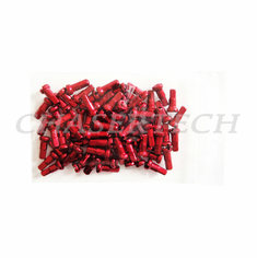 "Bicycle 7075 Alloy Spoke Nipples 2.0mm 14G 1/2"" 100 Pcs Red"